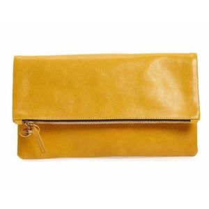 BRAND NEW Clare V. Leather Foldover Clutch
